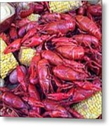Crawfish Time In Louisiana Metal Print by Katie Spicuzza