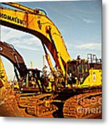 Crawler Excavator - Komatsu - Digger - Machinery Metal Print