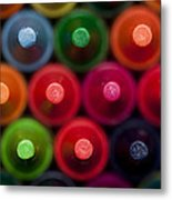 Crayon Tips 1 A Metal Print