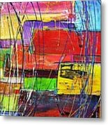Crazy Abstract Metal Print