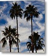 Crazy Cloud Palms Metal Print