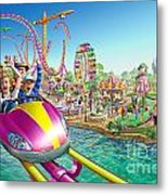 Crazy Coaster Metal Print by Adrian Chesterman