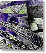 Crazy Cones Purple Greenl2 Metal Print