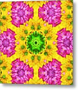 Crazy Daises - Spring Flowers - Bouquet - Gerber Daisy Wanna Be - Kaleidoscope 1 Metal Print