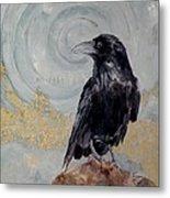 Creation - A Raven Metal Print