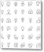 Creative icon set Metal Print