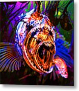 Creatures Of The Deep - Fear No Fish 5d24799 Square Metal Print