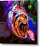 Creatures Of The Deep - Fear No Fish 5d24799 Metal Print by Wingsdomain Art and Photography