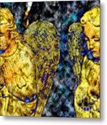 Creche Angels 8 Metal Print