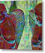 Creche Angels 1 Metal Print