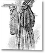 Cree Indian Squaw And Papoose Metal Print