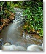 Creek After Big Storm Metal Print