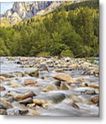 Creek And Castle Crags Metal Print