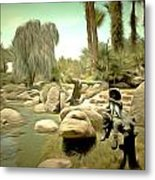 Creek At Jackalope Ranch Palm Springs Metal Print