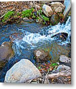 Creek Entering Andreas Canyon In Indian Canyons-ca Metal Print