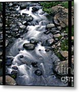 Creek Flow Polyptych Metal Print