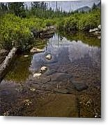 Creek In Vermont Metal Print