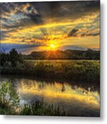 Creek Sunset Metal Print