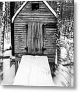 Creepy Cabin In The Woods Metal Print by Edward Fielding