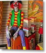 Creepy Clown Metal Print