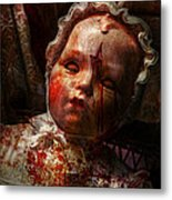 Creepy - Doll - It's Best To Let Them Sleep  Metal Print by Mike Savad