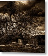 Creepy House One Metal Print