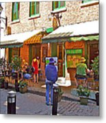 Crepes Et Fondues In Old Montreal-qc Metal Print