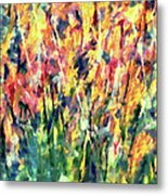 Crescendo Of Spring Abstract Metal Print
