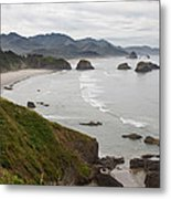 Crescent Bay At Cannon Beach Oregon Coast Metal Print