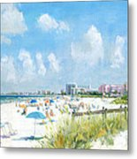 Crescent Beach On Siesta Key Metal Print by Shawn McLoughlin