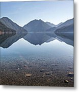 Crescent Lake Reflection Metal Print by Pierre Leclerc Photography