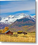 Crested Butte Autumn Landscape Panorama Metal Print