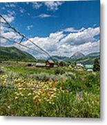 Crested Butte Farm House Metal Print