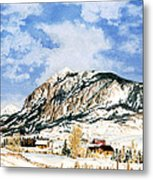 Crested Butte Mountain Metal Print