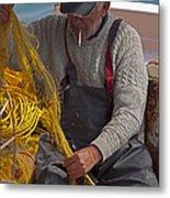 Crete Fisherman   #9348 Metal Print