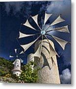 Creton Windmills Metal Print