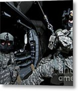 Crew Chief Sits In The Doorway Metal Print