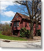 Cricket Building At Haverford College Metal Print