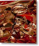 Crimson And Gray Glass Macro Ws2 Metal Print