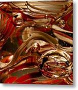 Crimson And Gray Glass Macro Ws4 Metal Print