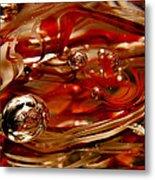 Crimson And Gray Glass Macro Ws6 Metal Print
