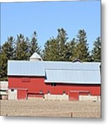 Crimson Barn Metal Print