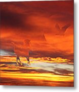 Crimson Fever Metal Print