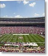Crimson Tide A-day Football Game At University Of Alabama  Metal Print by Carol M Highsmith