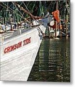 Crimson Tide Bow Metal Print by Michael Thomas