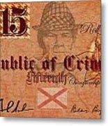 Crimson Tide Currency Metal Print