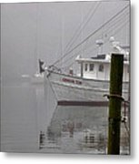 Crimson Tide In The Mist Metal Print