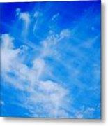 Cris Cross Clouds IIi Metal Print