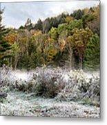 Crisp Morning Frost Hillside Landscape Metal Print