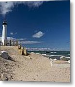 Crisp Point Lighthouse 17 Metal Print
